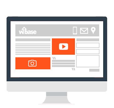 landing page imagenes y videos